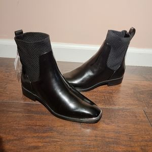 ZARA Chelsea rubber ankle boots